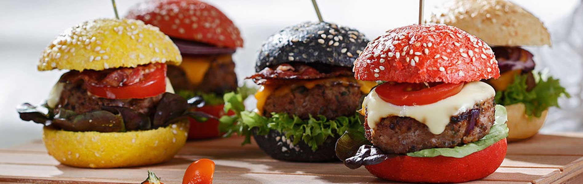Bunte Mini Burger - Unikorn Catering München