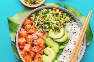 Reis und Gemüse - Business Lunch München