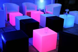 Unikorn Catering - LED-Leuchtmobiliar