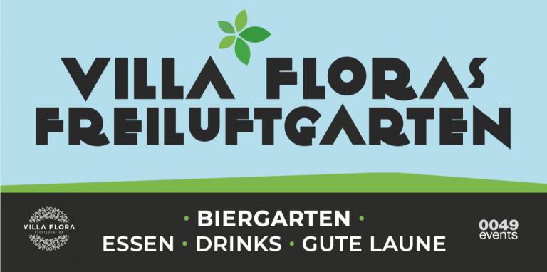 Villa Flora`s Freiluftgarten-Biergarten München-Unikorn Catering & Events -Catering München